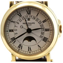 Patek Philippe 5059J Perpetual Calendar with Retrograde Date Officers Case Watch