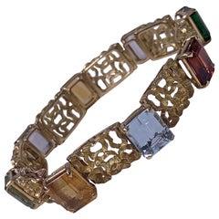 H. Stern 18 Karat Multi Gem Bracelet, 20th Century
