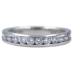Zales Octillion Platinum Diamond Wedding Band Ring
