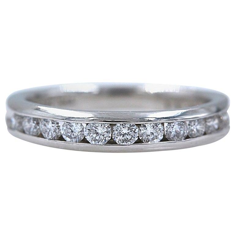 Zales Octillion Platinum Diamond Wedding Band Ring For