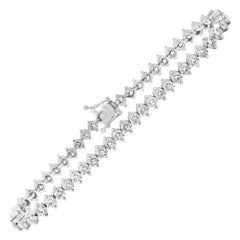7.26 Carat Diamond Two-Prong Tennis Bracelet