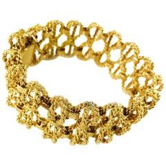 18 Karat Gold Rope-Style Bow Bracelet