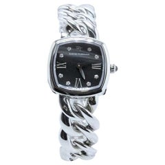 David Yurman Albion Stainless Steel Watch with Diamond Black Face