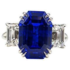 10.67 Carat Natural No Heat Ceylon Sapphire Diamond Ring