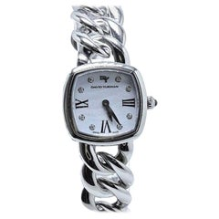 David Yurman Albion Stainless Steel Watch with Diamond White Face