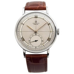 Omega Chronometre Jumbo Reference 2366-2 Stainless Steel Watch, 1944