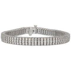 9 Carat Three-Row Diamond Bracelet
