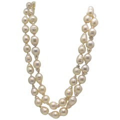 Strand of 55 Baroque South Sea Cultured Pearls