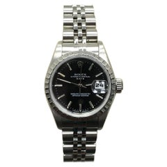 Rolex Ladies 69240 Datejust Black Dial Stainless Steel