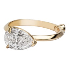 GCAL Certified 18 Karat Yellow Gold and 2.01 Carat Diamond Doris Ring by Alessa