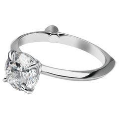 GCAL Certified 18K White Gold & 1.50 ctw Diamond Viola Engagement Ring by Alessa