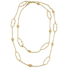 Judith Ripka Diamond Chelsea Link 18 Karat Yellow Gold Necklace