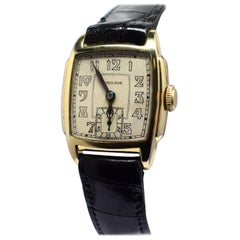 Art Deco 14 Karat Gold Filled Gents Watch by Hamilton