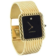 1960s Ladies Gubelin Gold Wave Watch