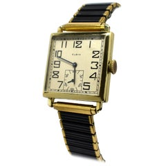 Superb Art Deco Gold Filled Gents Wristwatch by Elgin Dating to 1924