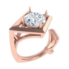 GCAL Certified 18K Rose Gold & 1.50ctw Diamond Secret Night Pinky Ring by Alessa