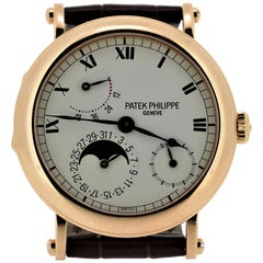 Patek Philippe 5054R Officers Case with Hinge Back Watch, circa 2001