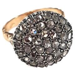 2.45 Carat White Diamond Large Circle Cocktail Ring