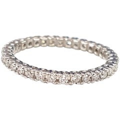 Diamond 18 Karat White Gold Stacking Ring