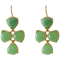 Emma Chapman Chrysoprase Gold Plate Drop Earrings