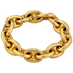 Victorian Gold Nautical Link Bracelet