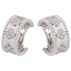 Van Cleef & Arpels Diamond Perlée Clovers Earrings