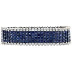 Sapphire and Diamond Bracelet, 64.00 Carat