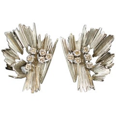 Boucheron Earrings White Gold Diamond