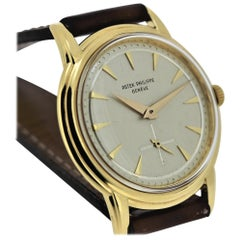 Patek Philippe 2525J Water Resistant Screw Back Calatrava, circa 1954