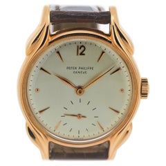 Patek Philippe 2431R Vintage Rose Gold Watch, Fancy Flame Lugs, circa 1948