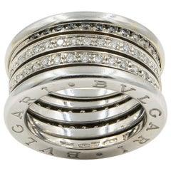 Bvlgari B.Zero1 Diamond Ring 18 Karat White Gold