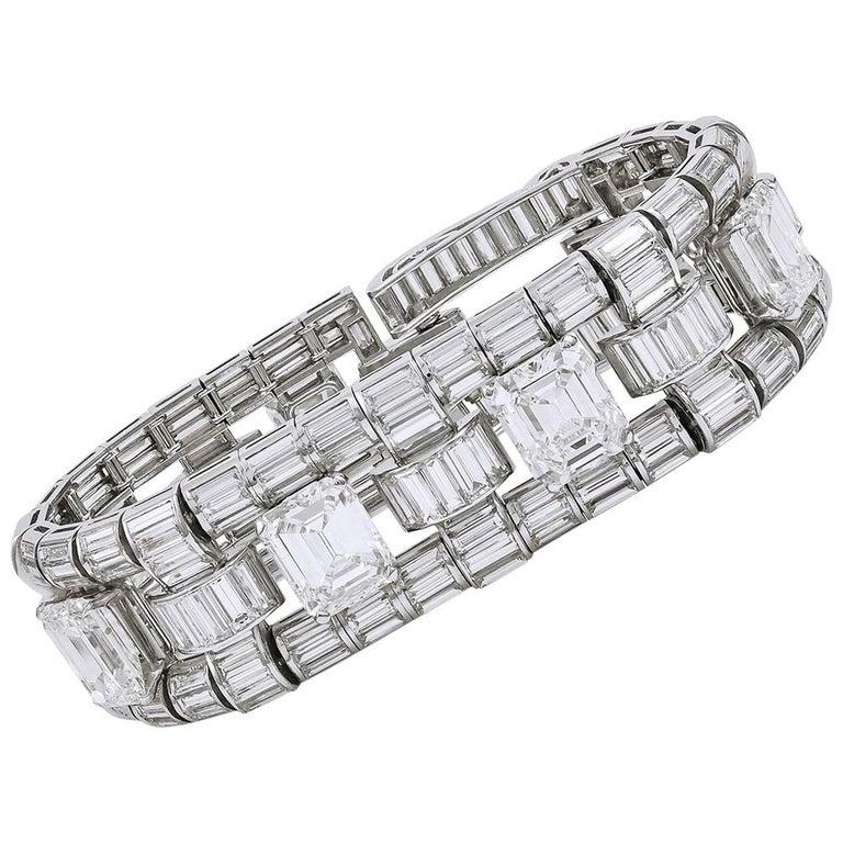 Important Trabert & Hoeffer Mauboussin Diamond Bracelet For Sale
