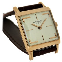 Patek Philippe 3406R Rose Gold Square Hermes Style Dial Watch, circa 1961