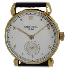 Patek Philippe 590J Vintage Calatrava Tear Drop Lug Case Watch, circa 1945