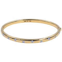 Tiffany & Co. Etoile Yellow Gold Diamond Bangle 0.21 Carat