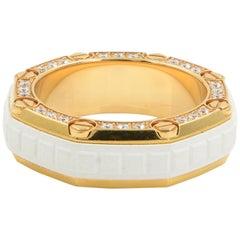 Audemars Piguet Men's Diamond Ring Rose Gold