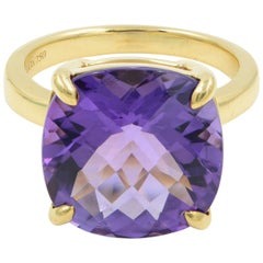 Tiffany & Co. Amethyst Ring 18 Karat Yellow Gold