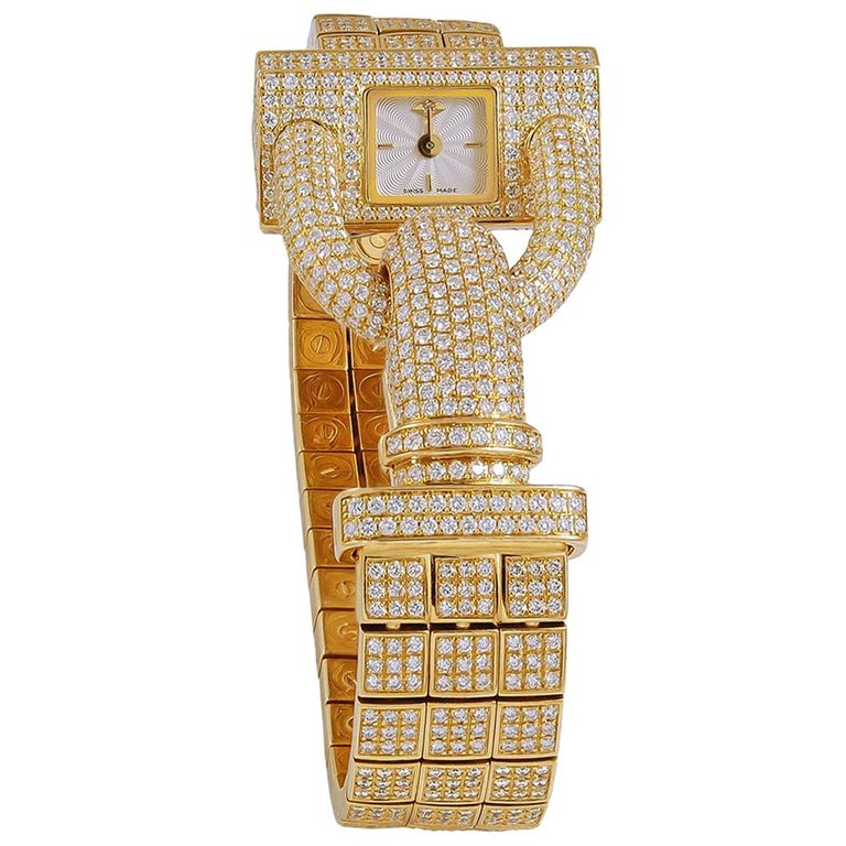 Van Cleef & Arpels Diamond Cadenas Watch For Sale