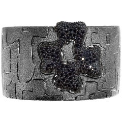 Alex Soldier Spinel Sterlingsilber Rhodium Hinged Cuff Bracelet Unikat