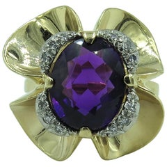 Tiffany & Co., Amethyst and Diamond Ring