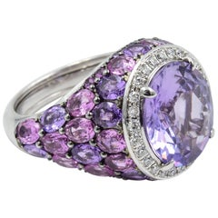 Robert Procop American Glamour Purple and Pink Sapphire Ring in 18 Karat
