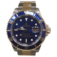 Rolex Submariner 16613 Blue 18K Yellow Gold and Stainless Steel Box, Papers 2007