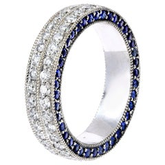 Diamond and Sapphire Pave Eternity Ring