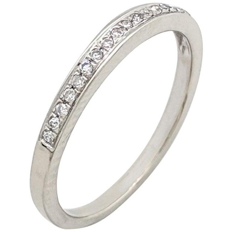 10 Karat White Gold Carat Diamond Stackable Anniversary Wedding Band Ring For