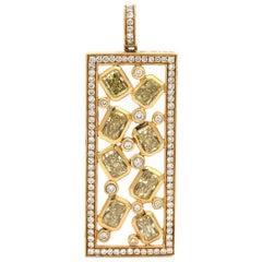 18 Karat Yellow Gold Diamond Pendant