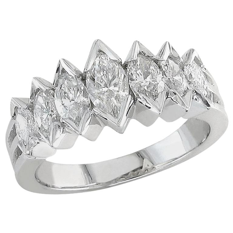 Marquise Cut Diamond Wedding Ring For Sale At 1stdibs