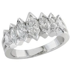 Marquise Cut Diamond Wedding Ring