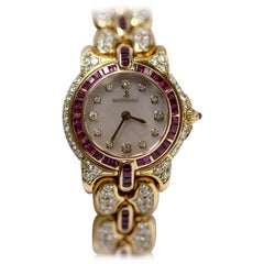 Bertolucci Pulchra 18 Karat Yellow Gold with Rubies and Diamonds