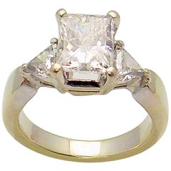 Radiant Cut and Trilliant Cut Diamond Engagement Ring