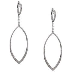 Diamond Pave Tear Drop Earrings